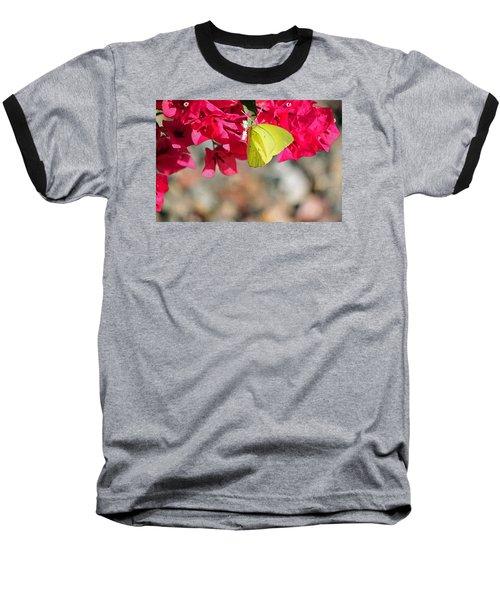 Summer Garden II In Watercolor Baseball T-Shirt