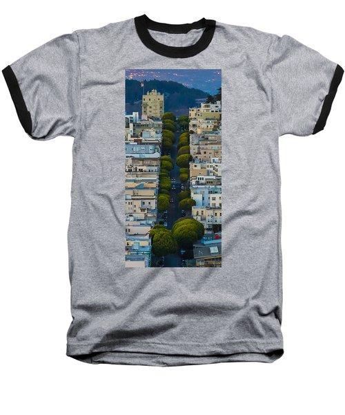 Summer Green On Lombard Street Baseball T-Shirt