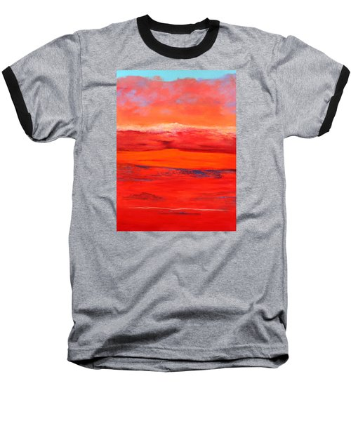 Baseball T-Shirt featuring the painting Summer Heat 2 by M Diane Bonaparte