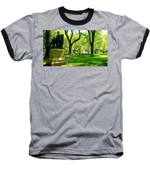 Summer In Central Park Manhattan Baseball T-Shirt