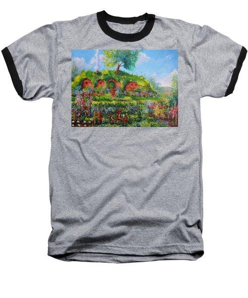 Summer In The Shire Baseball T-Shirt by Joe  Gilronan
