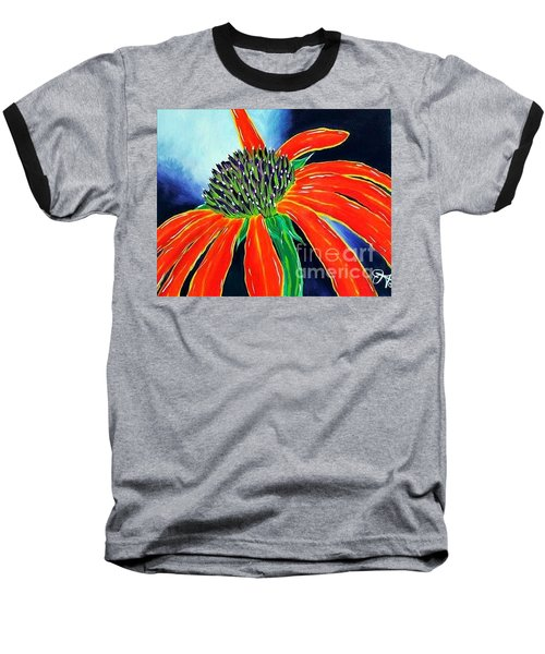 Baseball T-Shirt featuring the painting Summer Kissed Cone Flower by Jackie Carpenter