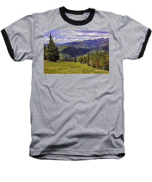 Summer Lifts - Vail Baseball T-Shirt by Madeline Ellis