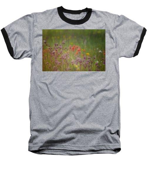 Baseball T-Shirt featuring the photograph Summer Meadow by Ellen Heaverlo