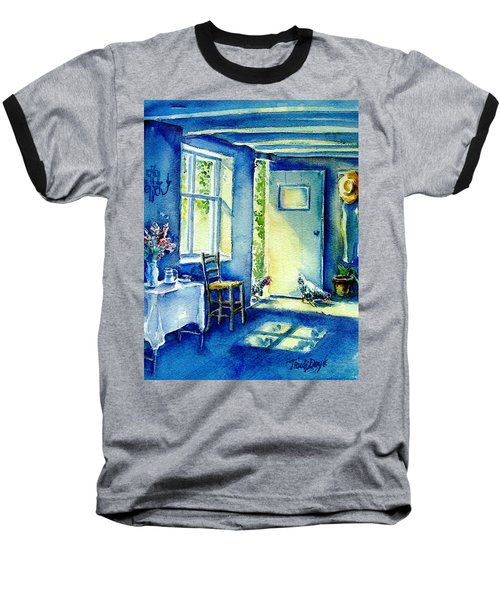 Baseball T-Shirt featuring the painting Summer Morning Visitors  by Trudi Doyle