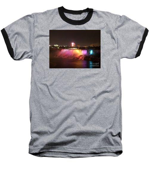 Summer Night In Niagara Falls Baseball T-Shirt by Lingfai Leung