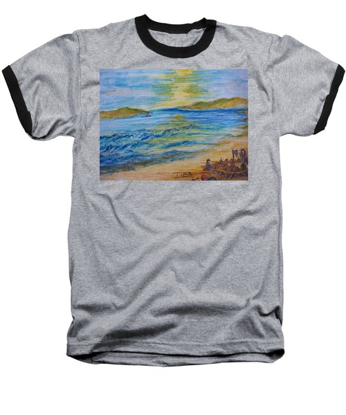 Baseball T-Shirt featuring the painting Summer/ North Wales  by Teresa White