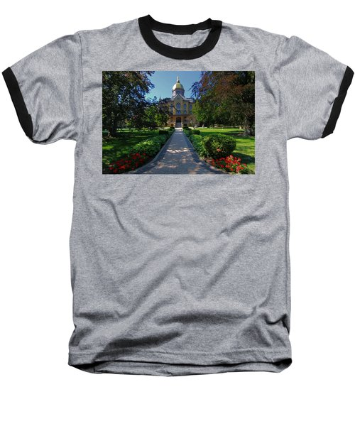 Summer On Notre Dame Campus Baseball T-Shirt