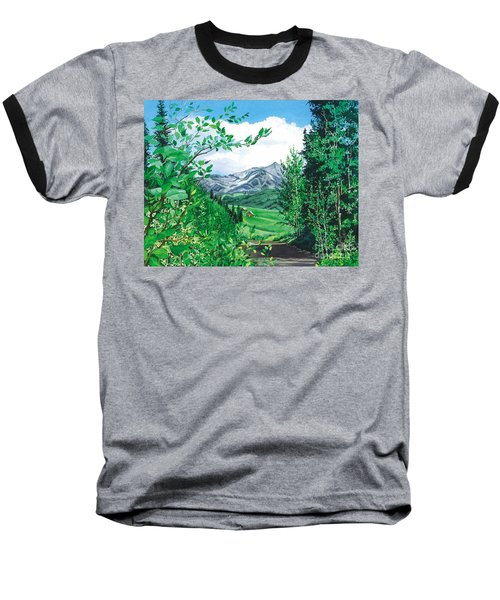 Summer Paradise Baseball T-Shirt by Barbara Jewell