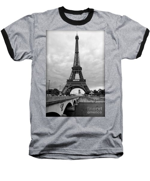 Summer Storm Over The Eiffel Tower Baseball T-Shirt