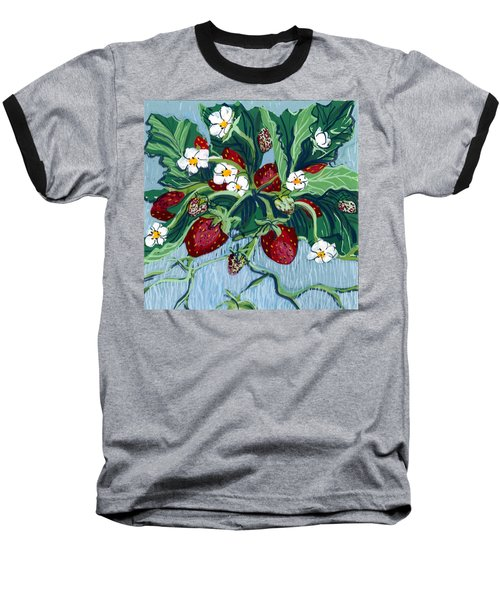 Summer Strawberries Baseball T-Shirt
