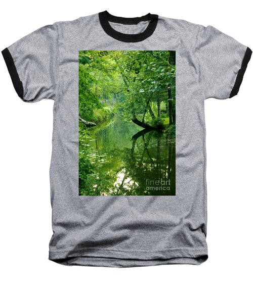 Summer Stream Baseball T-Shirt by Melissa Petrey