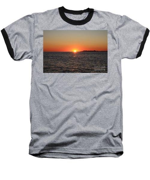 Summer Sunset Baseball T-Shirt by John Telfer