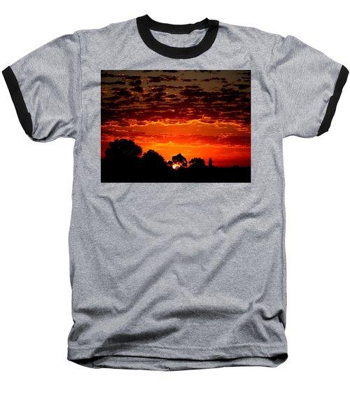 Summer Sunset Baseball T-Shirt by Mark Blauhoefer