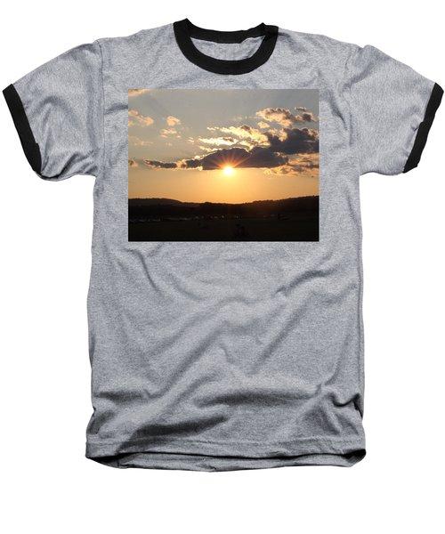 Summer Sunset Baseball T-Shirt
