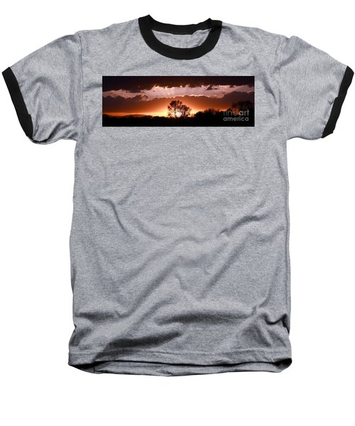 Summer Sunset Baseball T-Shirt by Steven Reed