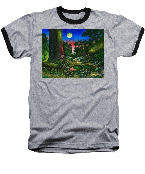 Summer Twilight In The Forest Baseball T-Shirt