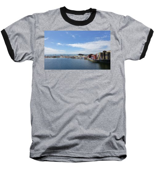 Summers End Capitola Beach Baseball T-Shirt by Amelia Racca