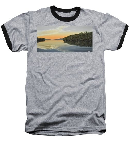 Baseball T-Shirt featuring the painting Summers End by Kenneth M  Kirsch