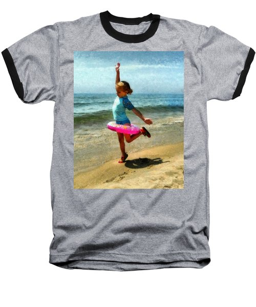 Summertime Girl Baseball T-Shirt