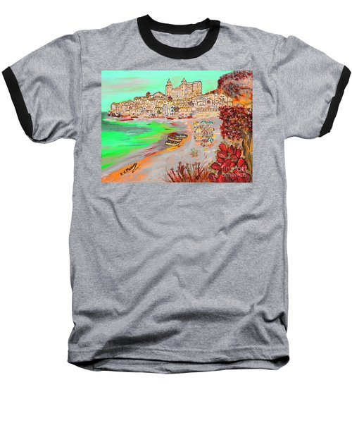 Summertime In Cefalu' Baseball T-Shirt by Loredana Messina