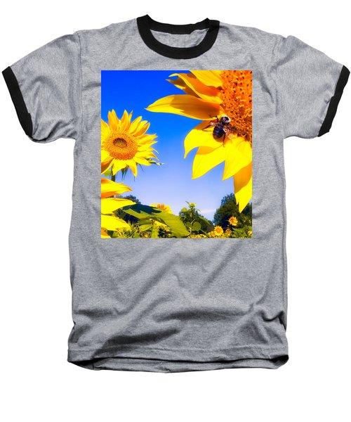 Summertime Sunflowers Baseball T-Shirt
