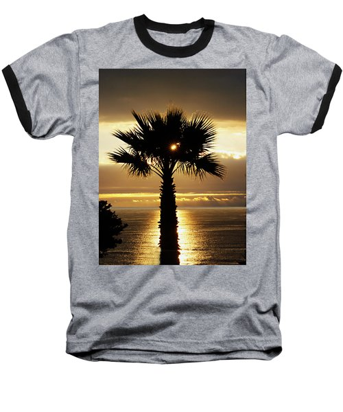 Sun And Palm And Sea Baseball T-Shirt