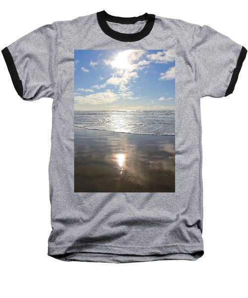 Sun And Sand Baseball T-Shirt by Athena Mckinzie