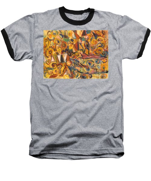 Sun- Bathing Among Yellow  Roses Baseball T-Shirt