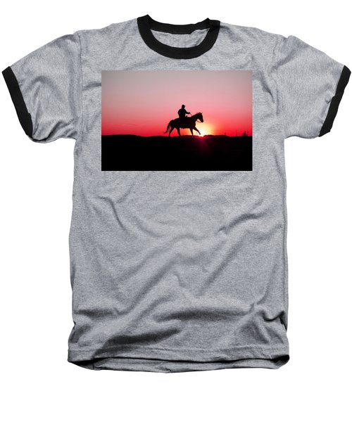 Sun Dancer Baseball T-Shirt by Steven Bateson