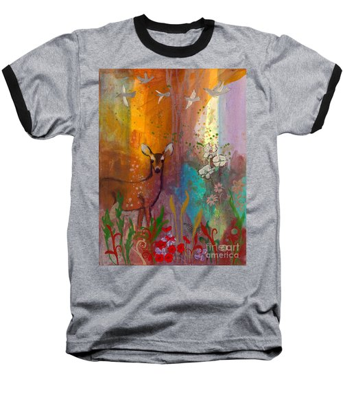 Sun Deer Baseball T-Shirt