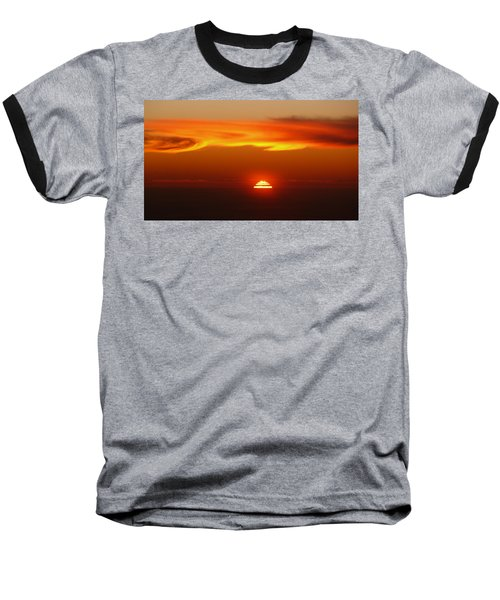 Sun Fire Baseball T-Shirt by Evelyn Tambour