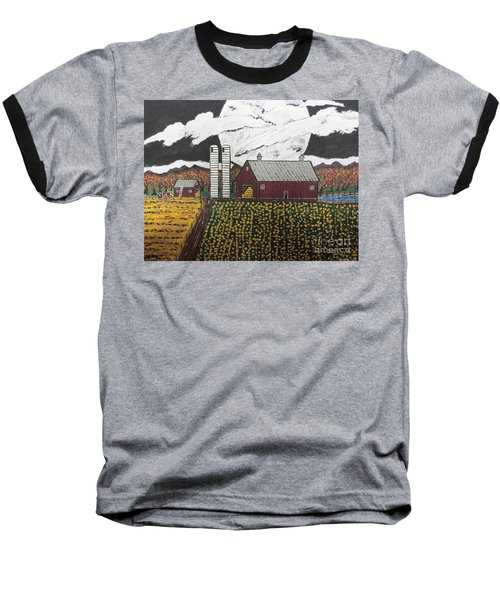Sun Flower Farm Baseball T-Shirt by Jeffrey Koss