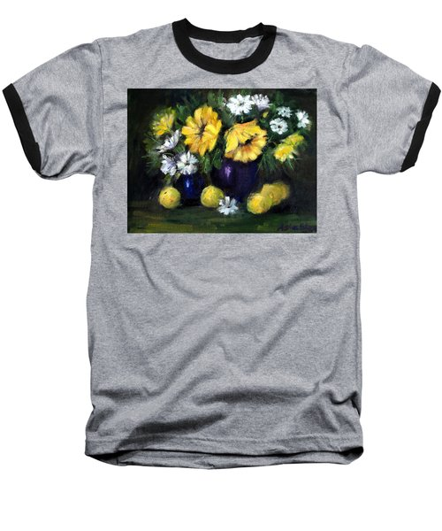 Sun Flowers Baseball T-Shirt