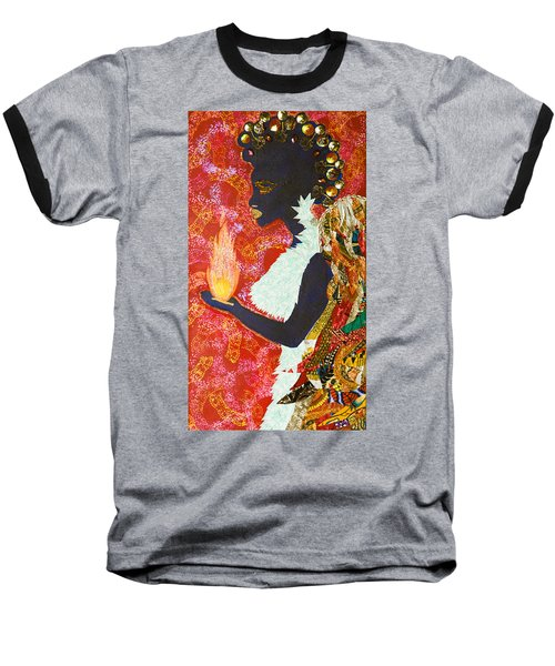 Baseball T-Shirt featuring the tapestry - textile Sun Guardian - The Keeper Of The Universe by Apanaki Temitayo M