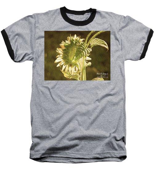 Baseball T-Shirt featuring the photograph Sun-lite Sunflowwer by Donna Brown