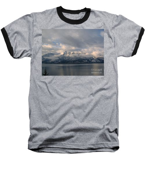 Sun On The Mountains Baseball T-Shirt by Leone Lund