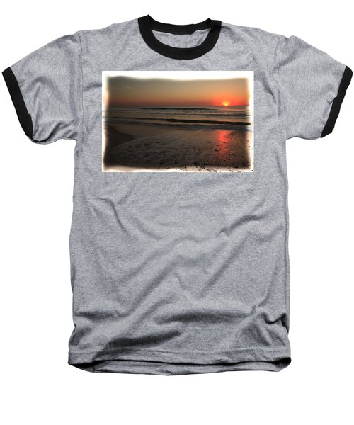 Sun Over The Ocean Baseball T-Shirt