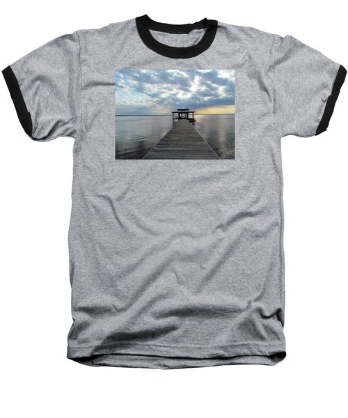 Baseball T-Shirt featuring the photograph Sun Rays On The Lake by Cynthia Guinn