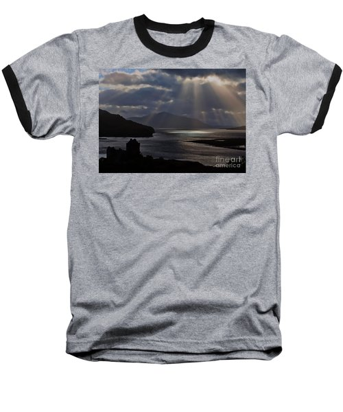 Sun Rays Over Eilean Donan Castle Baseball T-Shirt