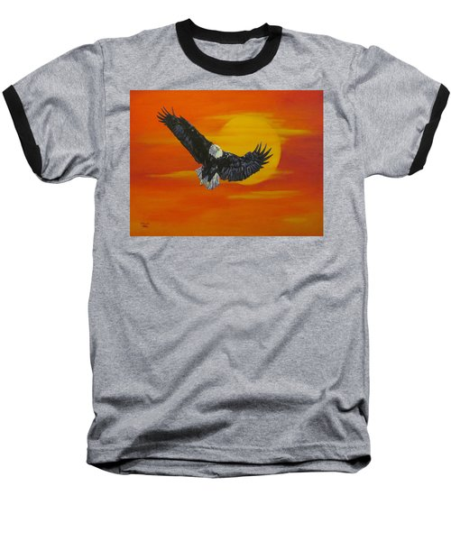 Baseball T-Shirt featuring the painting Sun Riser by Wendy Shoults