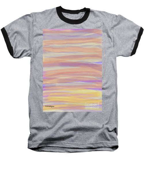 Abstract Sun Sea And Sand Baseball T-Shirt by Linsey Williams