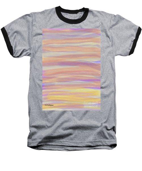 Abstract Sun Sea And Sand Baseball T-Shirt