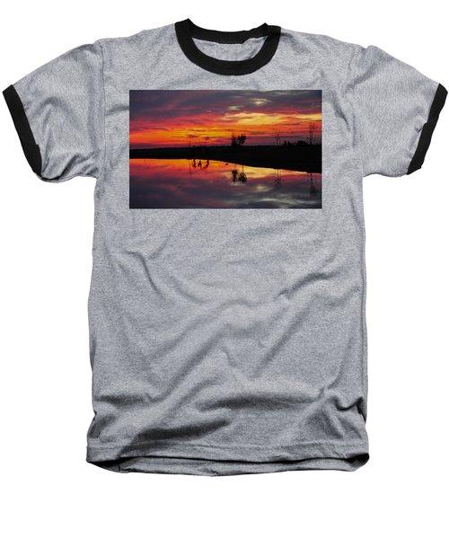 Sun Set At Cowen Creek Baseball T-Shirt