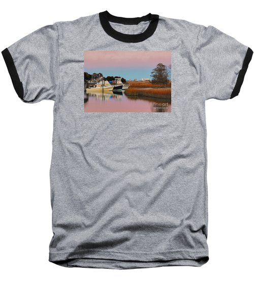 Baseball T-Shirt featuring the photograph Sun Setting At Murrells Inlet by Kathy Baccari