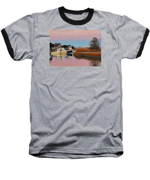 Sun Setting At Murrells Inlet Baseball T-Shirt