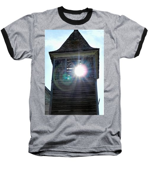 Sun Through The Steeple-by Cathy Anderson Baseball T-Shirt by Cathy Anderson
