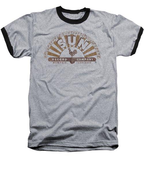 Sun - Worn Logo Baseball T-Shirt by Brand A