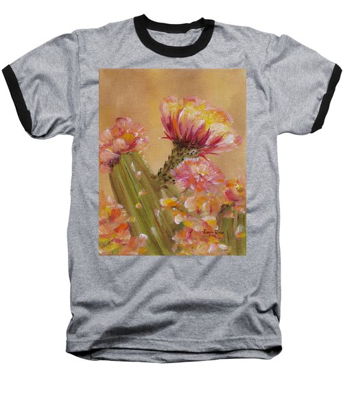 Baseball T-Shirt featuring the painting Sun Worshipper by Judith Rhue
