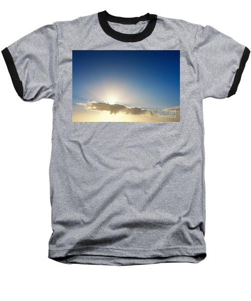 Sunbeams Behind Clouds Baseball T-Shirt
